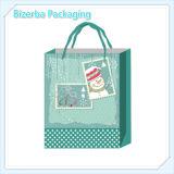 Bolsa de papel verde de la impresión en color