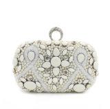 Sacchetto di sera di lusso Handmade della signora Designer Rhinestone Pearl Beaded di modo
