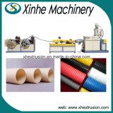 Single-Screw와 Single-Wall 물결 모양 플라스틱 압출기 기계 관 생산 라인