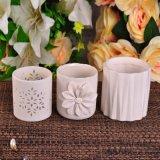Weißer keramischer Kerze-Behälter