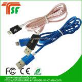 Câble de caractéristiques micro de la tresse en nylon colorée USB pour l'iPhone