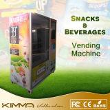 Máquina de Vending combinado de consumo dos bens com a tela do LCD de 23 polegadas
