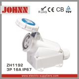 IP67 3p 16A High End Wall Mounted Socket for Industrial
