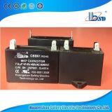 Capacitor do ventilador Cbb61, caixa preta da cor, tipo quadrado, 370VAC