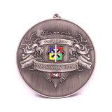 Antikes Silber 3D, das Triathlon-Medaillen-Geschenk stempelt