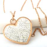 شعبيّة نساء نمو مجوهرات طويل عقد ماس قلب مدلّاة