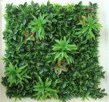 Piante verdi artificiali del rivestimento murale di nuovo disegno