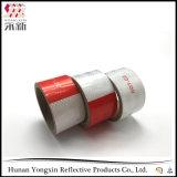 Стикер ленты красного белого предосторежения тележки автомобиля отражательный