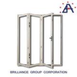 Porta de alumínio de alumínio vitrificada dobro da dobra do Bi da porta de dobradura das trilhas invisíveis