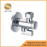 Válvula de bronze da água do batente do ângulo de 3 maneiras com porca curta