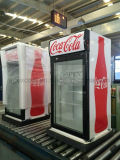 Vetrina del frigorifero del dispositivo di raffreddamento della visualizzazione della bevanda della contro parte superiore in alta qualità
