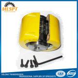 노란 상자를 가진 스프로킷 롤러 사슬 연결기