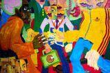 2017 het Nieuwe Katoenen van de Kunst van de Muur van de Straat Olieverfschilderij van het Canvas