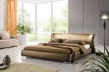 Кровать неподдельной кожи новой шикарной конструкции самомоднейшая (HC201A) для спальни