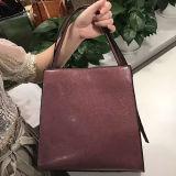 Sacchetti di spalla alla moda europei del Tote delle signore della borsa del cuoio genuino di disegno semplice per le donne Emg5131