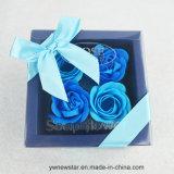 Romantischer 4PCS Rose Seifen-Blumen-Geschenk-Kasten für Geliebten