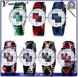Reloj de nylon colorido elegante popular unisex del cuarzo del estilo ocasional de la manera del reloj de la correa del diseño simple del reloj de encargo del diamante Yxl-218