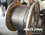 Ligne de contrôle hydraulique de Downhole duplex de l'acier inoxydable S32750 tuyauterie enroulée