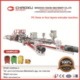 Chaîne de production en plastique d'extrusion de matériel de bagage d'extrudeuse de PC