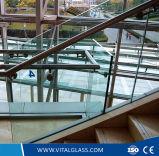 3-19mm lisos/curvatura/curvado/lustrou vidro Tempered com CE & o ISO Certificate