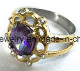 Anillo de dedo inoxidable de la pieza de acero fundido de la mejor venta (SCR2896)