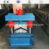 Azulejo de azotea de la hoja de acero de la exportación/rodillo estándar del casquillo de Ridge de la hoja que forma la máquina
