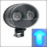 青く軽い安全警報灯のフォークリフトの点ライト