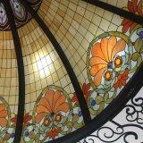 De reusachtige Koepel van de Bouw van het Gebrandschilderd glas van Gazebo van de Tuin