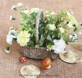 (BC-SF1015) respetuoso del medio ambiente natural hecho a mano de paja cesta de la flor
