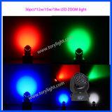 中国LEDの洗浄36PCS*12W RGBWズームレンズの移動ヘッドライト