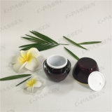 化粧品の包装のための円形シリーズ45gワインレッドのアクリルのクリーム色の瓶(PPC-ACJ-096)