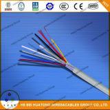 Vntc PVC/Nylon/PVC, contrôle, non protégé - 600 V, type Comité-Heu A.W.G. AWG/16 du câble 18 d'UL