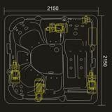 TERMAS ao ar livre verdes quadrados de 2150mm para 6 povos (AT-8802)