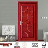 Portes intérieures découpées par main de placage en bois solide de teck (GSP8-020)