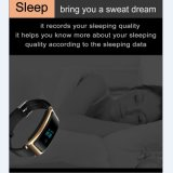 歩数計のSmartwatchの人間の特徴をもつ携帯電話が付いている腕時計