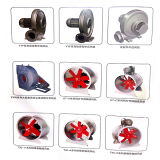 (KT-A) Ventilateurs axiaux de tube en aluminium rouge de lame