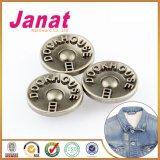 Анти- серебряная кнопка металла для джинсыов с подвижной задней стороной