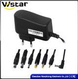12V 1A Adapter van de Macht Adapter/AC gelijkstroom van de Stop van Europa de Standaard