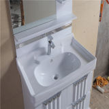 Vanité blanche de salle de bains de PVC des prix concurrentiels avec le Cabinet latéral