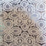 Laço da tela do vestido do laço/vestuário do laço/do Crochet do algodão guarnição do laço