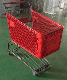 Trole plástico da compra da mercearia do supermercado