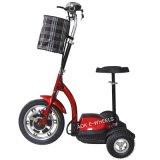 """Triciclo elétrico pequeno e requintado, """"trotinette"""" elétrico de 3 rodas com a cesta no preço favorável (ES-048)"""