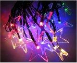 Estrella/Pentagram de la luz de la cadena de la energía solar 20-LED por el Nuevo-Año Lh-Ss09 de la boda de la Navidad