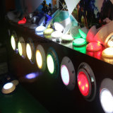 PC subacuática 12V RGB de la lámpara de la bombilla de la piscina del LED con el telecontrol