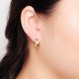 装飾(E-0165)のための安い金張り925の純銀製のイヤリング