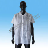 Wegwerfbares Nonwoven pp. Lab Coat Medical Clothes, Dust Coat mit Elastic Cuff