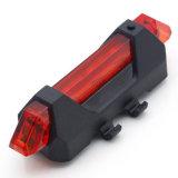 USB 재충전용 빨간 백색 파랑 LED 산 테일 빛 안전 경고 자전거 후방 빛