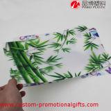 Het Patroon dat van het bamboe de Waterdichte Wasbare Plastic Matten van de Lijst schildert