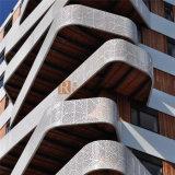 Panneau en aluminium fait sur commande de trous perforés pour l'usage de balcon
