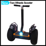 Road 떨어져 Electric Self Balancing Scooter를 위로 서 있으십시오